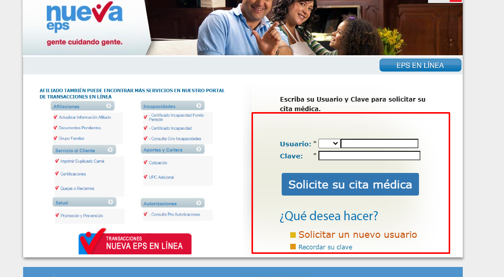 Cita Nueva EPS