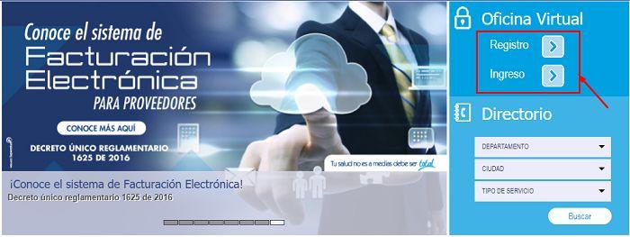 oficina virtual Salud Total
